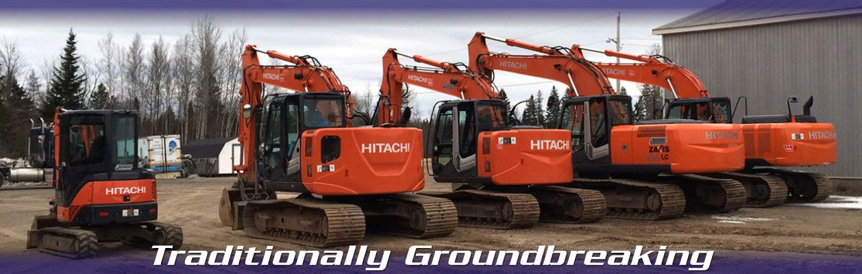 Traditionally Groundbreaking | Five HITACHI Medium Excavators